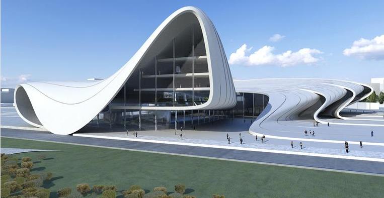 Heydar Aliyev Kulturzentrum in Baku, Entwurfszeichnung