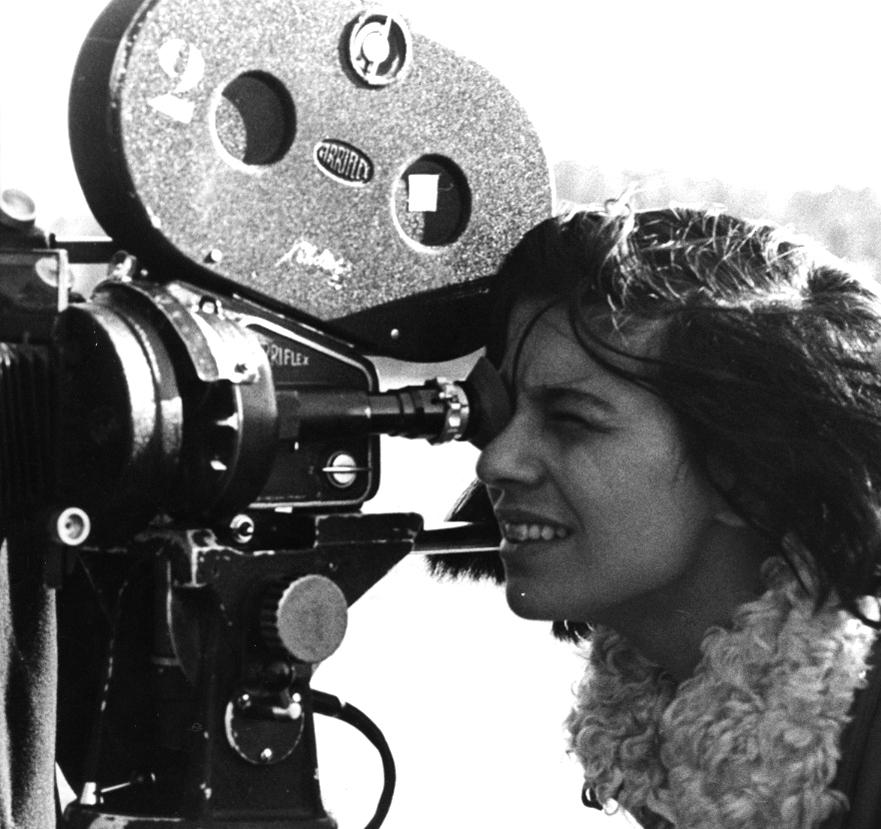 """Susan Sontag bei den Dreharbeiten zu """"Bruder Carl"""" in Schweden 1969"""
