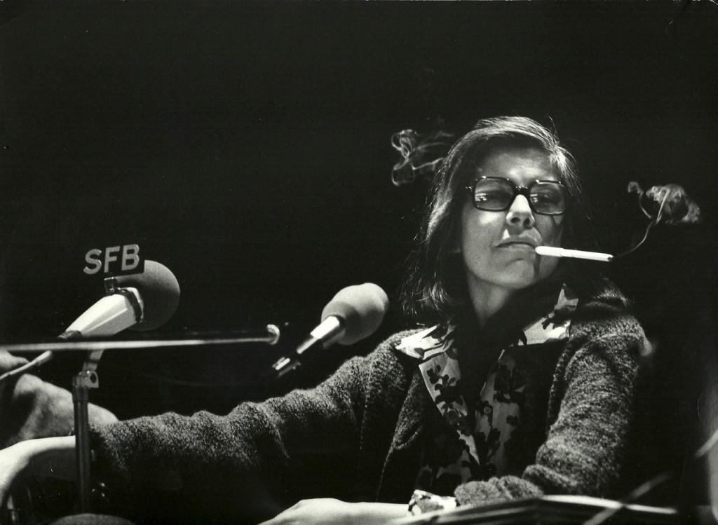 Susan Sontag in der Akademie der Künste in Berlin, 1976