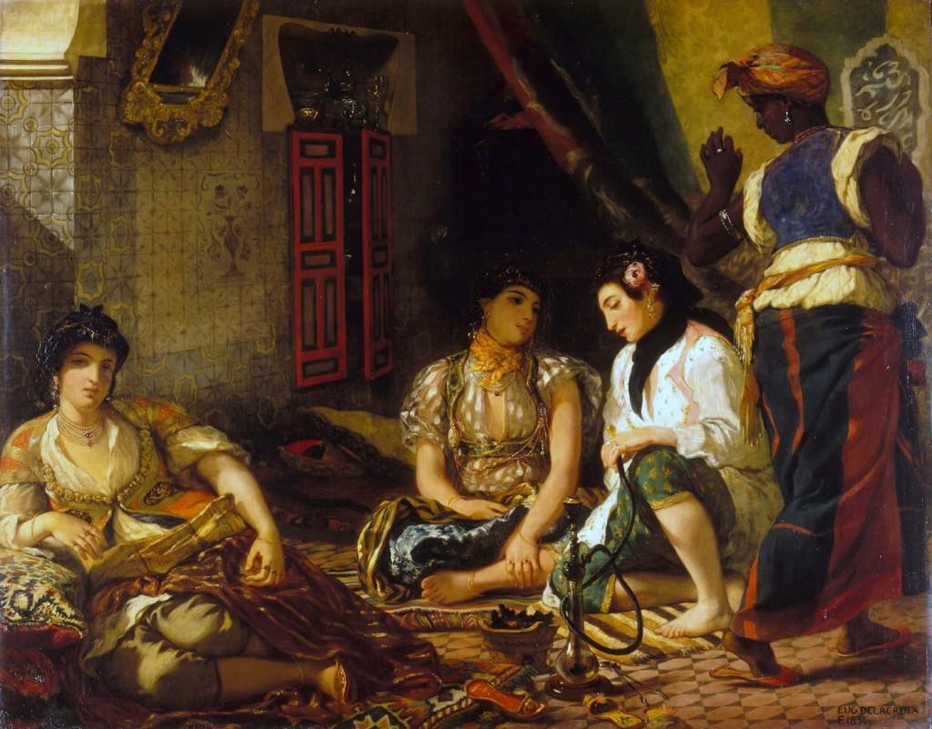 Femmes d'Alger dans leur appartement - Eugène Delacroix, 1834