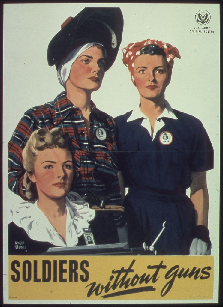 """Soldiers without guns"", Poster der US-Army, 1941"