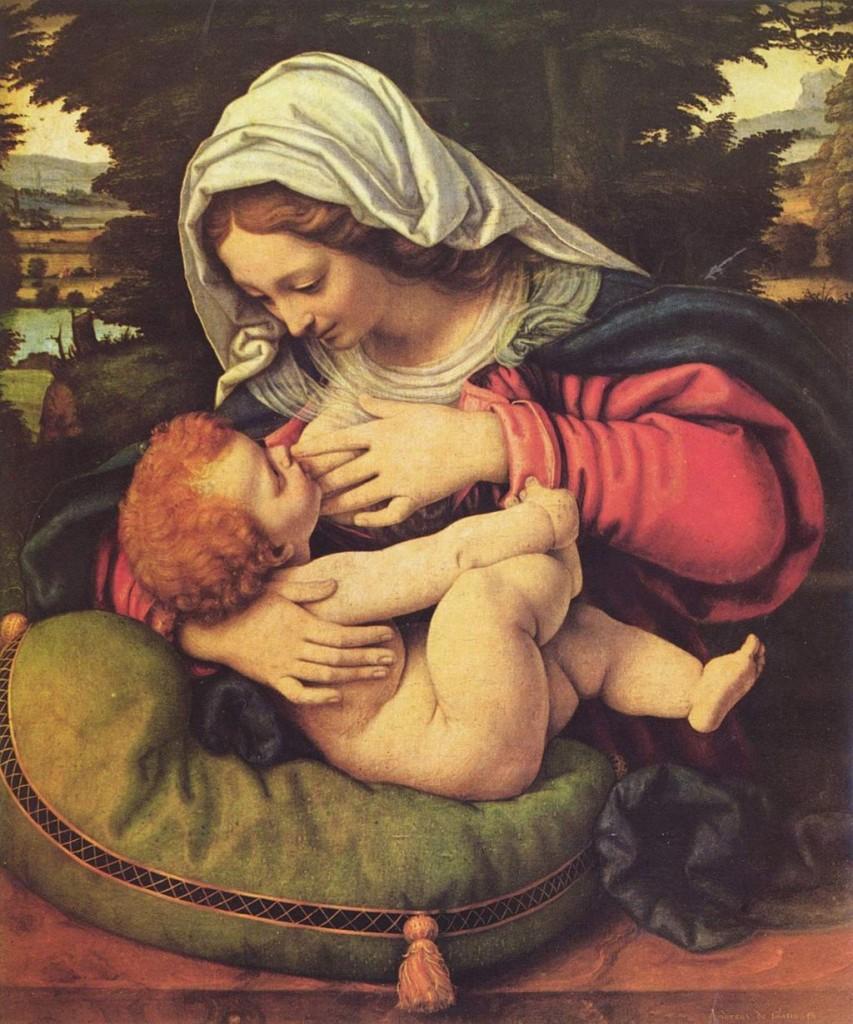 Andrea Solario: Madonna mit dem grünen Kissen