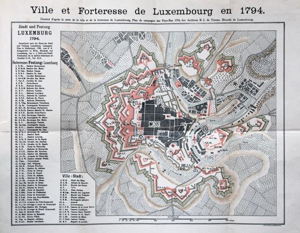 Grundriss der Stadt und Festung von Luxemburg, 1794
