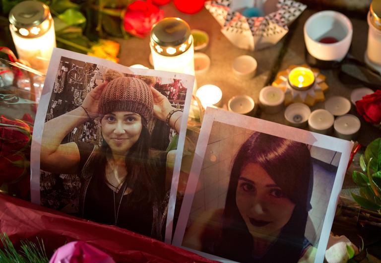 Erinnerung an Tuğçe Albayrak in Offenbach im November 2014. Unmittelbar nach ihrem Tod war die Solidarität groß.