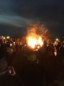 Osterfeuer in Cuxhaven-Dehnen