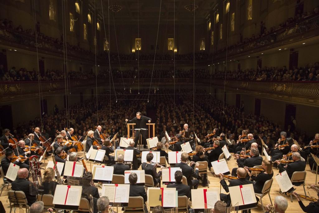 Heimspieler: Andris Nelsons dirigiert das Boston Symphony Orchestra in der Symphony Hall.