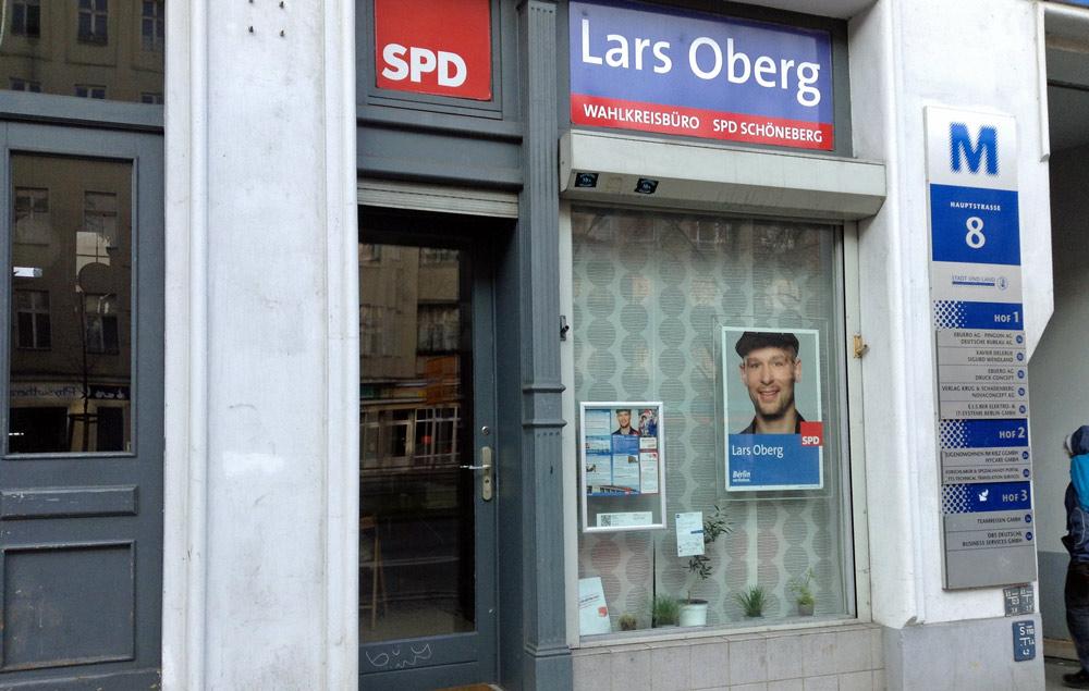 Lars Oberg von der SPD hat hier übrigens sein Wahlkreisbüro