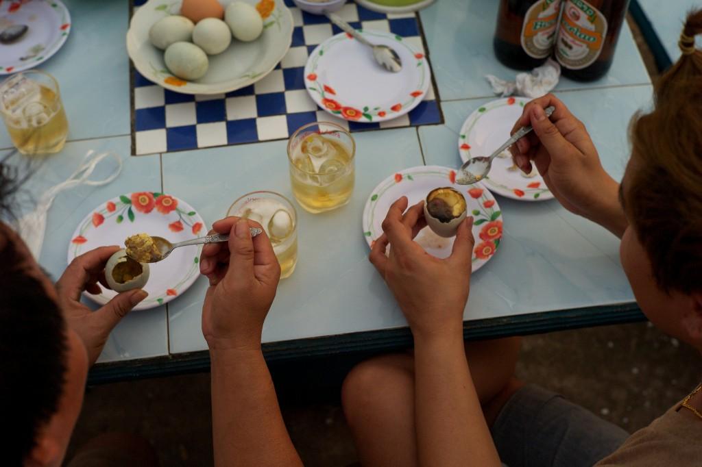 Lecker angebrütete Eier.