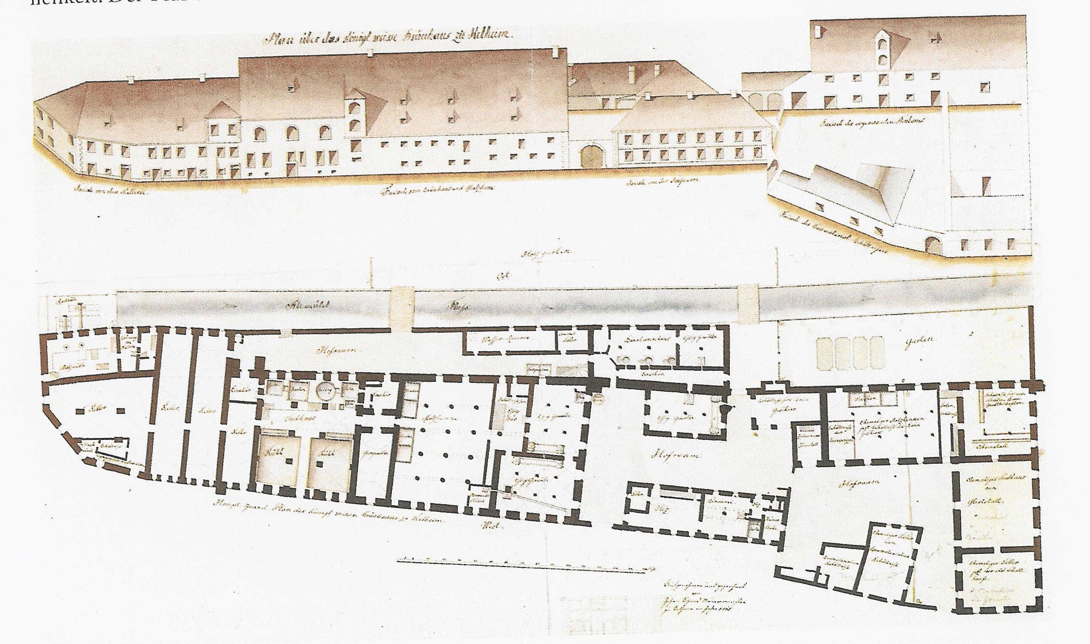 1825 Plan des königlichen WBK