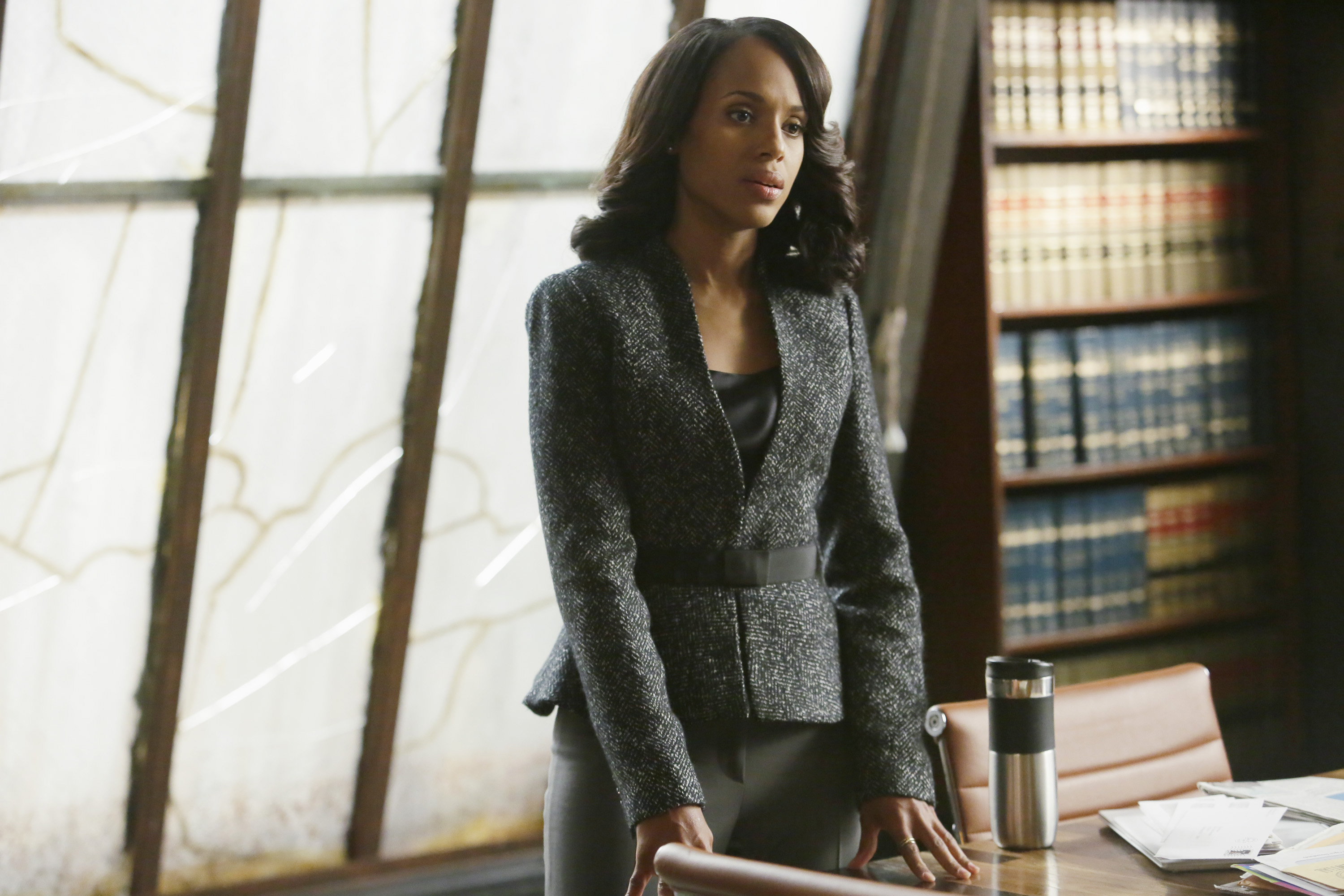 "HOThis photo provided by ABC shows, Kerry Washington as Olivia Pope, in the season finale of ""Scandal,"" on the ABC Television Network. ""Scandal"" and ""Mad Men"" are among the leading contenders for the 67th Emmy Award nominations, to be announced 11:30 a.m. EDT Thursday, July 16, 2015, in West Hollywood, Calif. The Los Angeles ceremony will air Sept. 20 on Fox with host Andy Samberg. (Nicole Wilder/ABC via AP) 