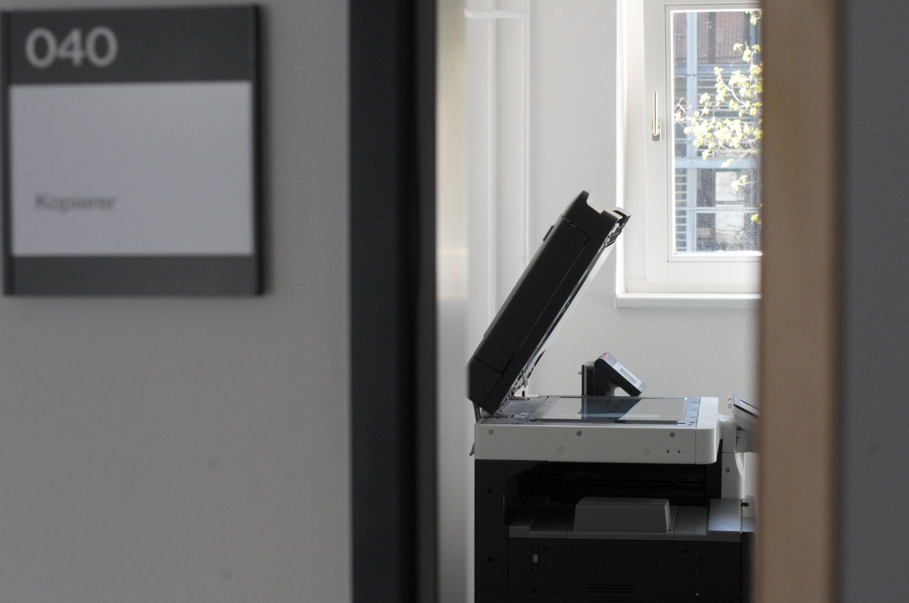 Ein Kopierer steht am 21.04.2016 an der Universität in Tübingen (Baden-Württemberg) in einem Seminarraum. Foto: Philip Schwarz/dpa | Verwendung weltweit