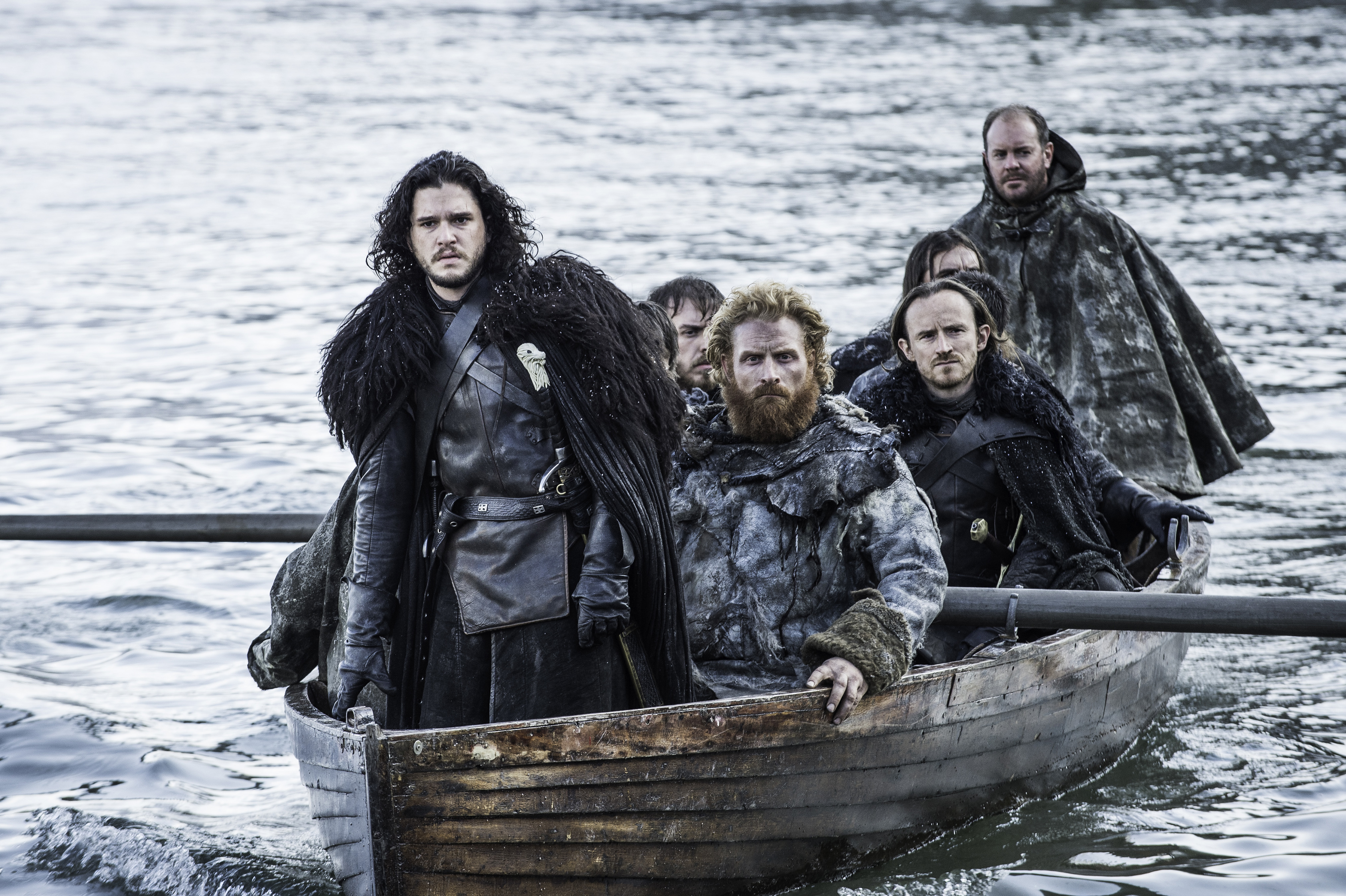 "FILE - This file image released by HBO shows Kit Harington as Jon Snow, left, in a scene from ""Game of Thrones."" ""Game of Thrones"" was one of the hottest topics on Facebook in 2015. (Helen Sloan/HBO via AP, File) 