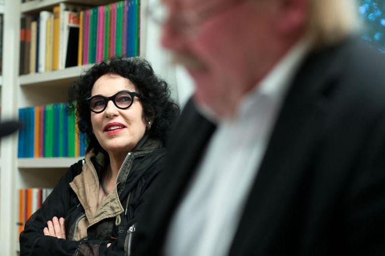 Ulla Unseld-Berkéwicz ,it Peter Sloterdijk(Foto Michael Jung)