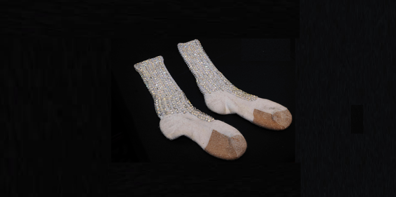 Moon-Walk-Socken aus dem Nachlass Michael Jacksons