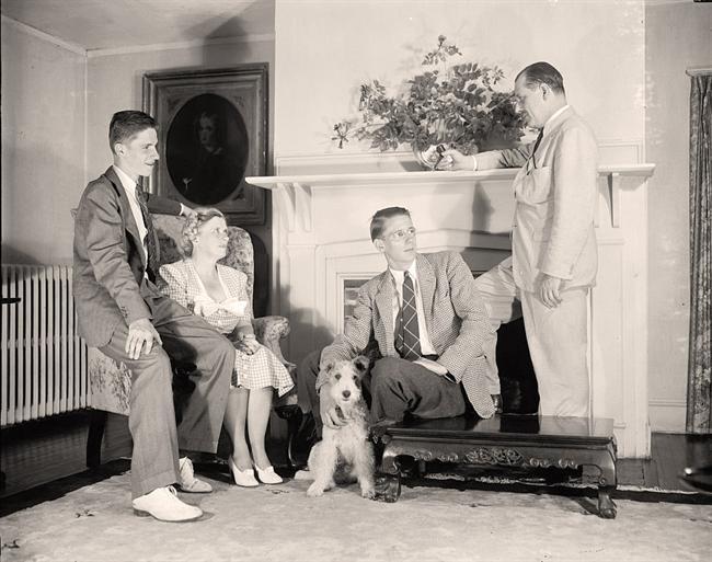 Thurman Arnold und seine Familie, 1939 oder 1940. Die Söhne Thurman jr. und George wurden ebenfalls Juristen.