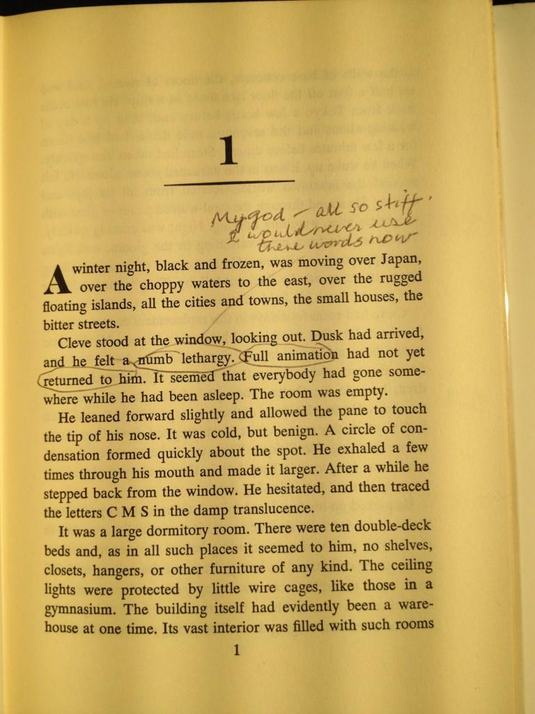 Das fängt ja schlecht an: Am Anfang des ersten Kapitels schickt Salter einen Seufzer zum Himmel.