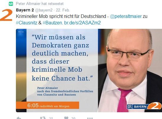Peter Altmaier Und Die Menschenwurde Auf Twitter Deus Ex Machina