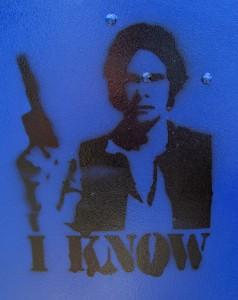 Im Präsens: Han Solo weiß, wer zuerst geschossen.
