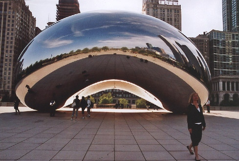 Plastik von Anish Kapoor in Chicago - Foto: Archiv