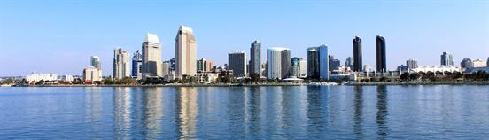 The photo (by Cindy Devin, CC-by 2.0) shows the skyline of San Diego.