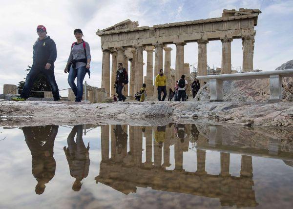 Der Parthenon-Tempel in Athen.