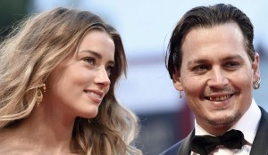 Johnny Depp mit Amber Heard in Venedig