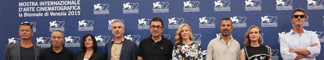 Die Jury beim Pressetermin zur Eröffnung des Filmfestivals