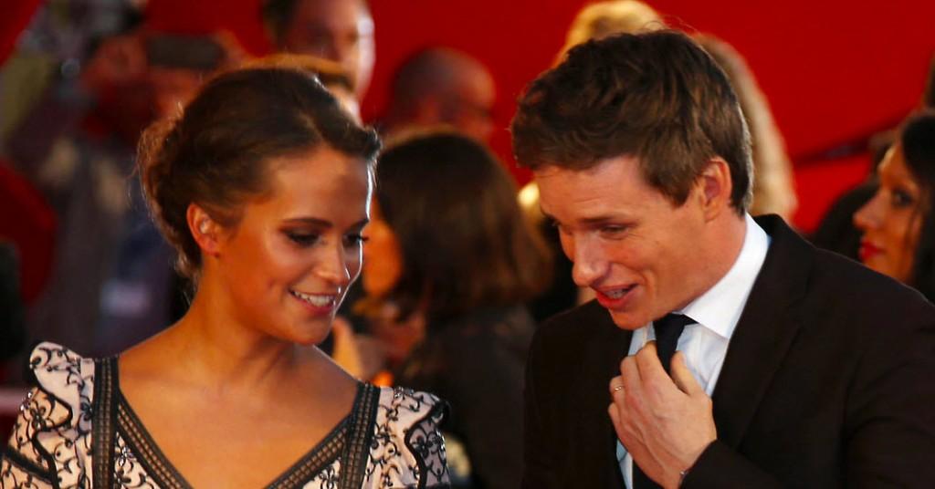 """Alicia Vikander und Eddie Redmayne bei der Premiere von """"The Danish Girl"""""""