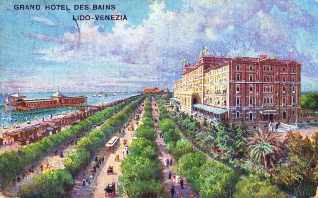 Das Grandhotel Des Bains auf einer Postkarte aus dem Jahr 1913