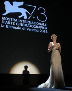 Die italienische Schauspielerin Sonia Bergamasco bei der Eröffnung des Festivals