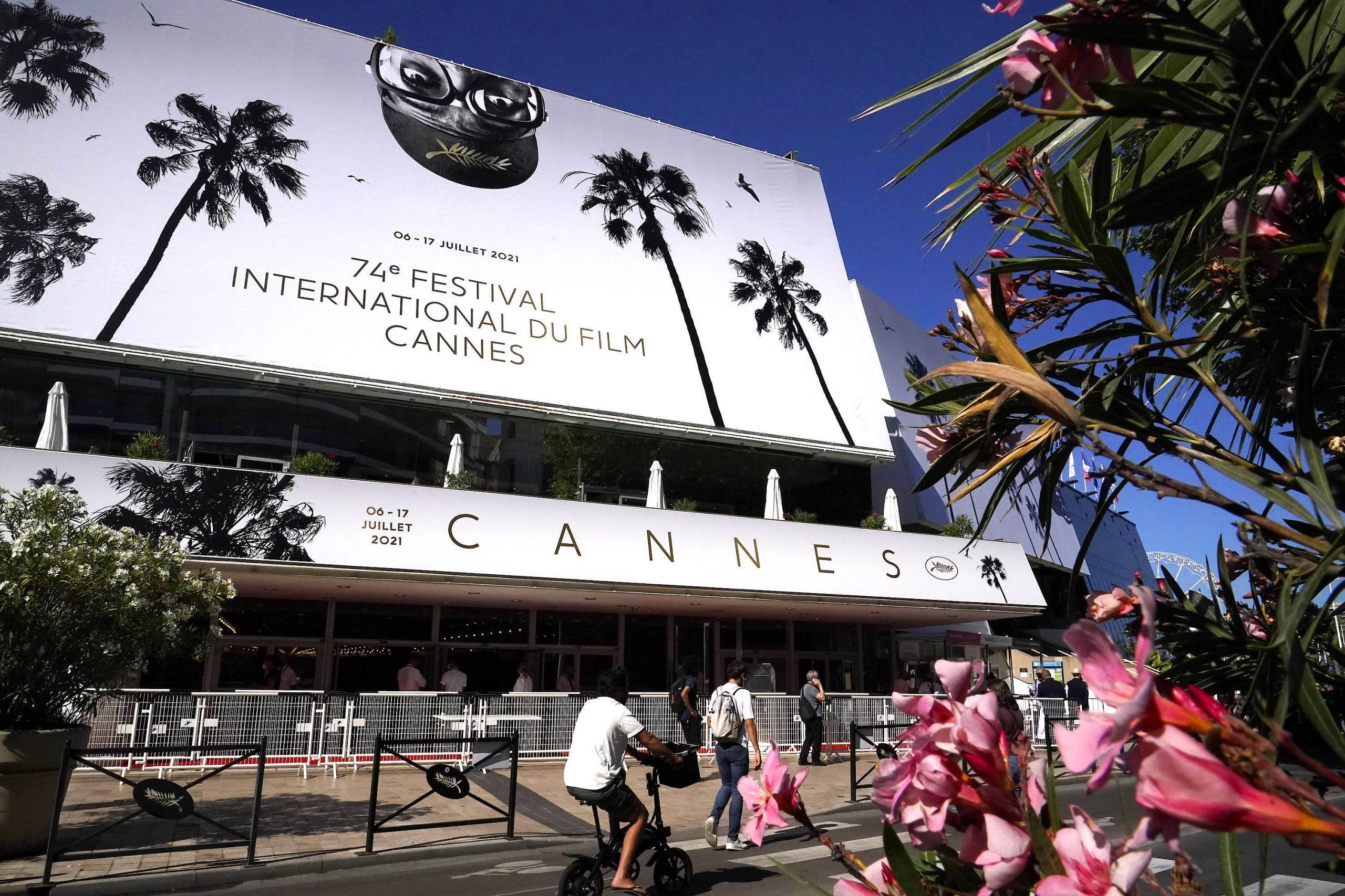 Das Festival Palais von Cannes kurz vor der Eröffnung