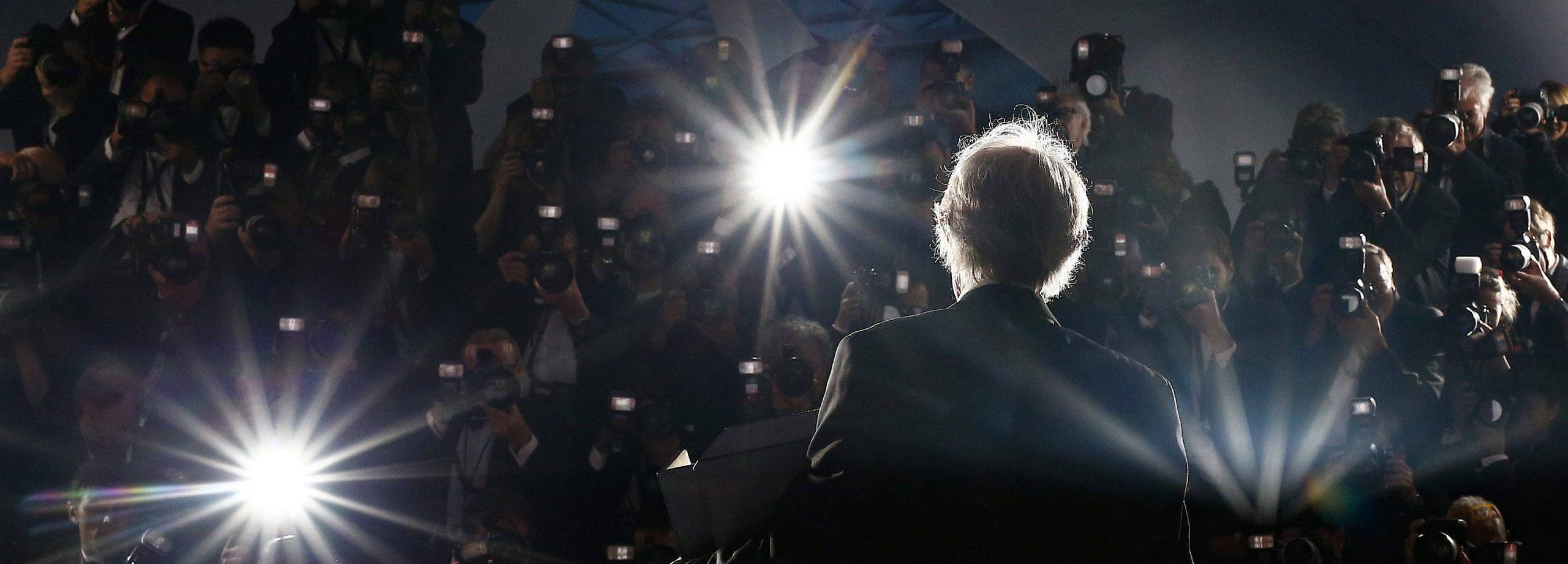 In den Blitzlichtgewittern von Cannes: Ken Loach im Mai 2016 nach seiner Auszeichnung mit der Goldenen Palme