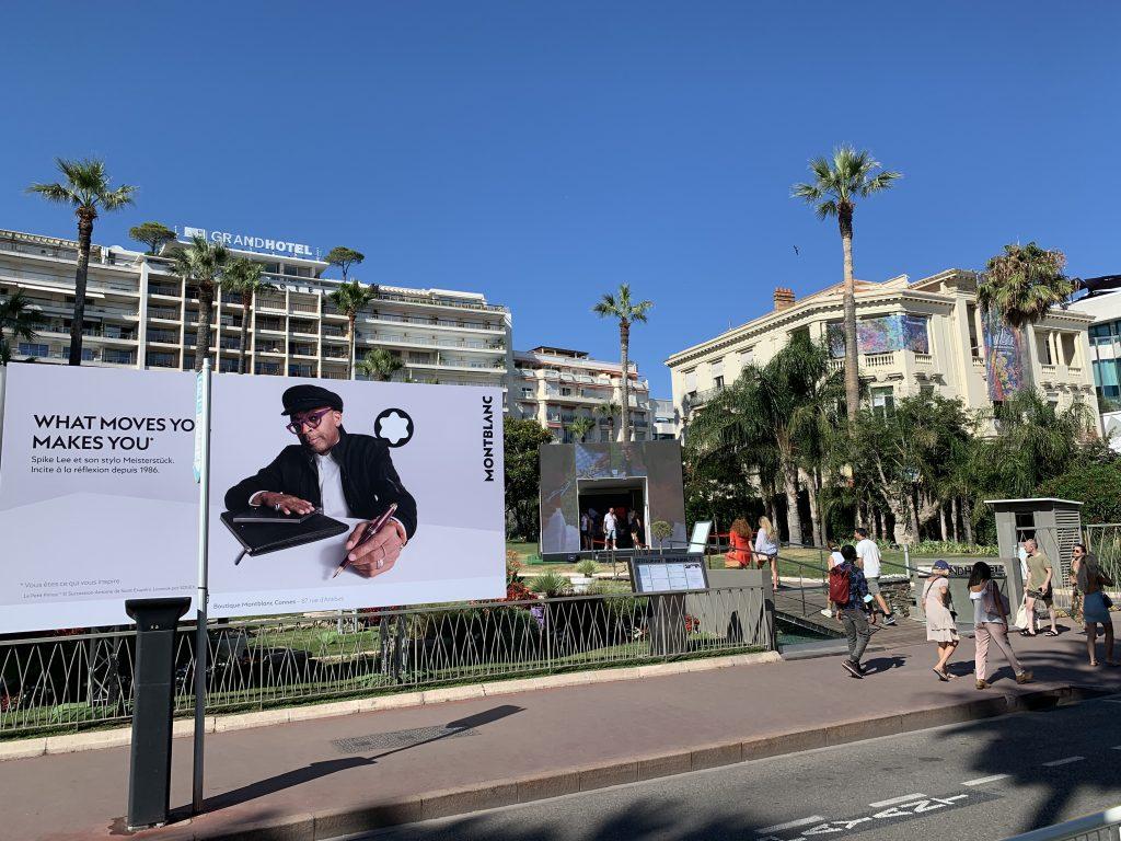 Der Jurypräsident und sein Schreibwerkzeug: Spike Lee macht Werbung in Cannes