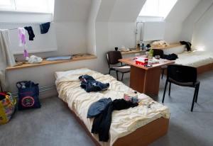 So sah Modars Unterkunft am Spandauer Rohrdamm aus. Mittlerweile hat er eine eigene Wohnung.