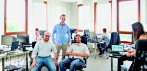 Haben gut lachen: Martin Klenk, Bastian Nominacher und Alexander Rinke - die Gründer von Celonis
