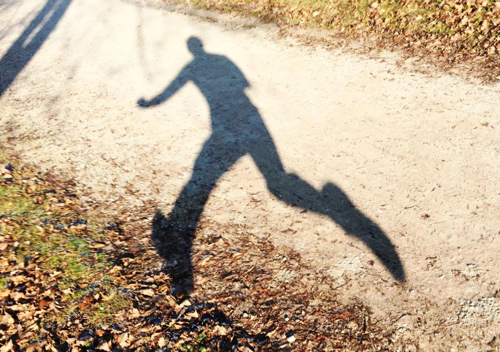 Schatten eines Läufers