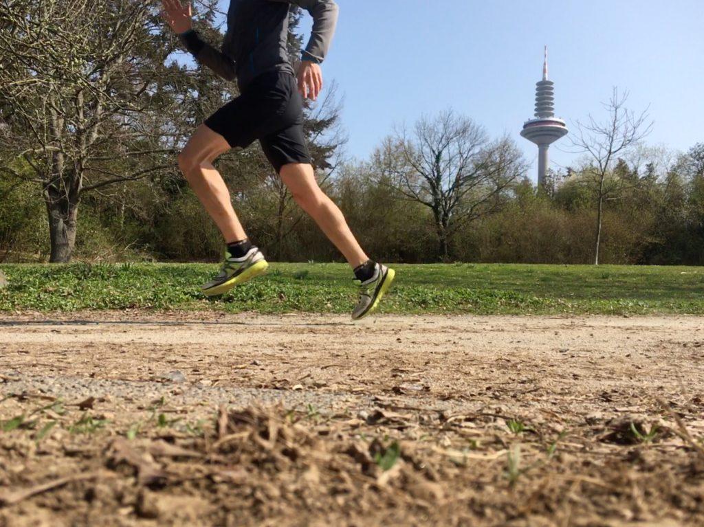 Läufer mit gutem Laufstil