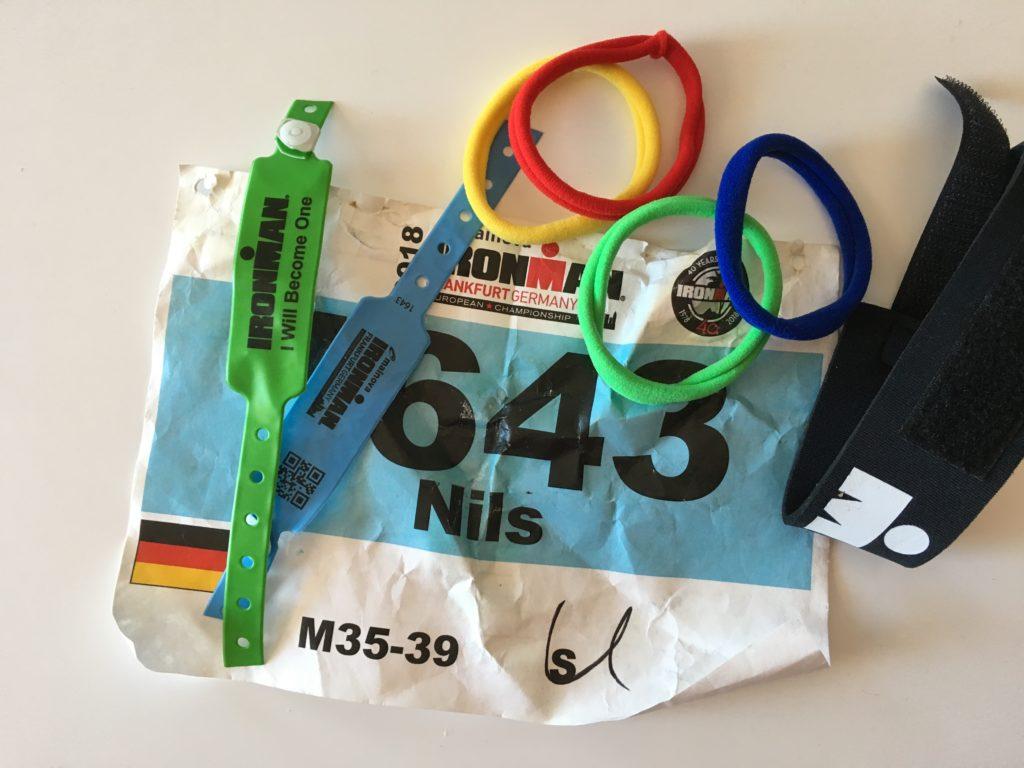 Startnummer von Nils beim Ironman 2018