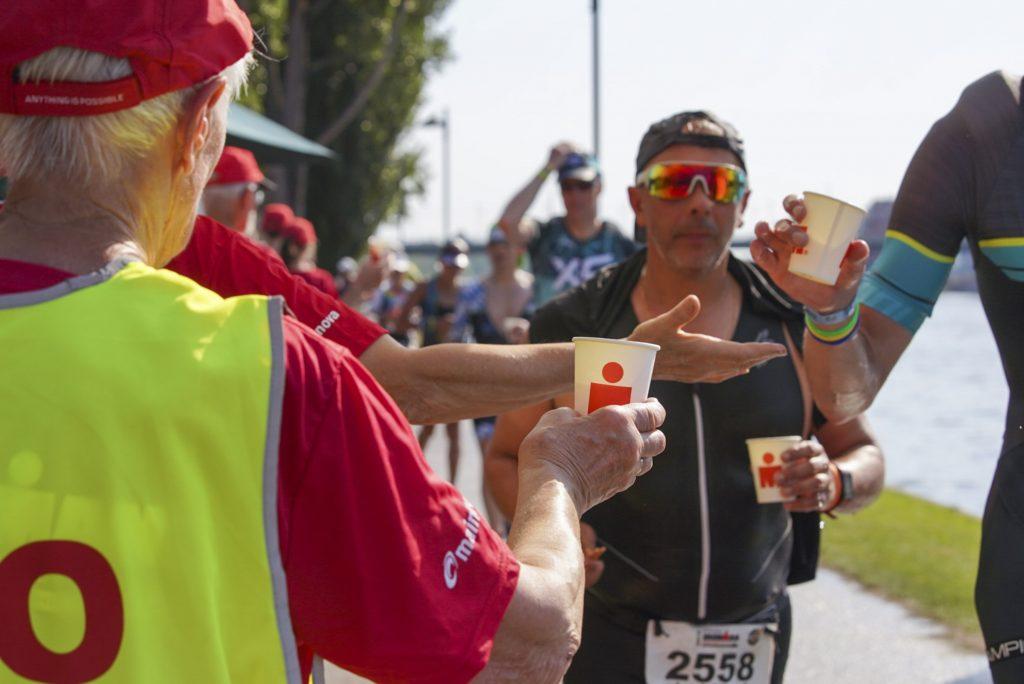 Teilnehmer beim Ironman 2019 in Frankfurt