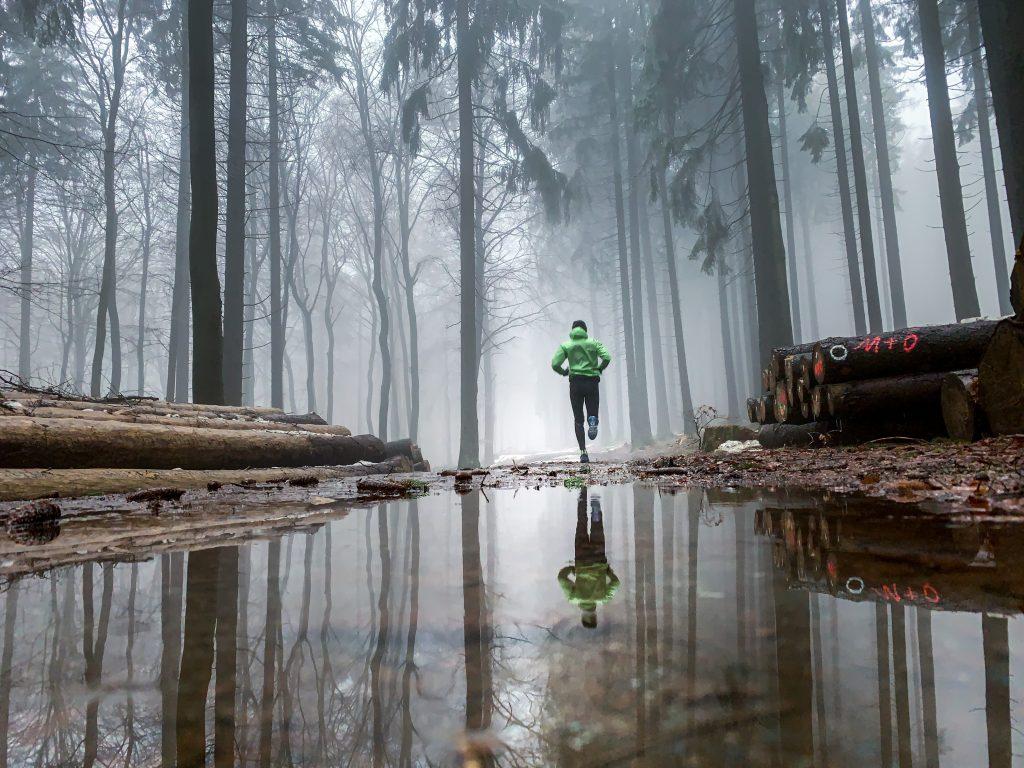 Nils beim Trailrunning