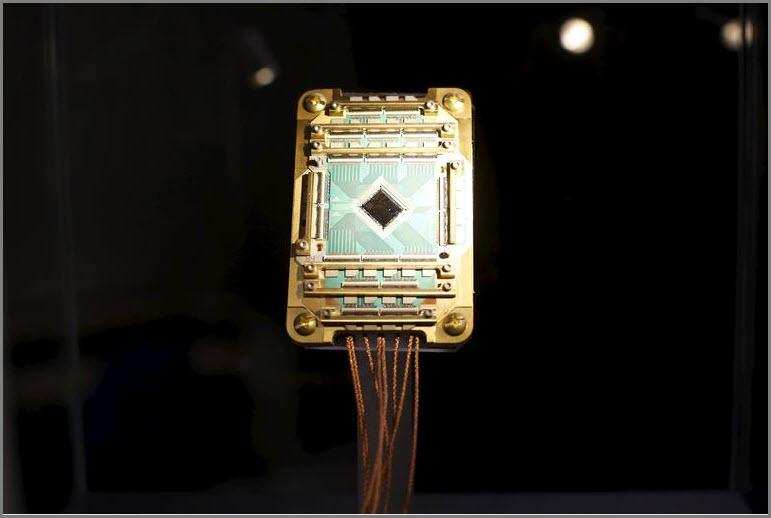 """""""Vesuvius""""_Prozessor aus dem Quantum Artificial Intelligence Laboratory."""