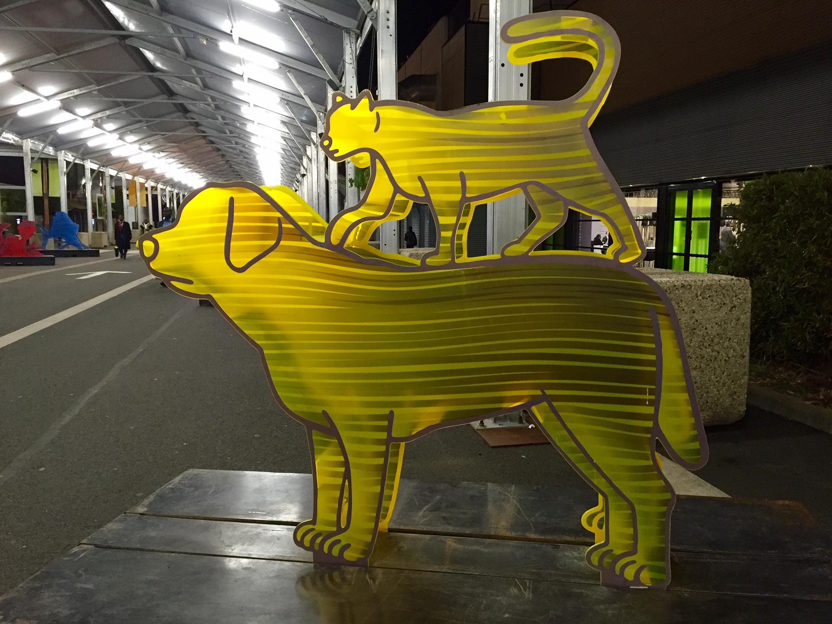 """""""Biokunst"""" auf dem Klimagipfel in Paris."""