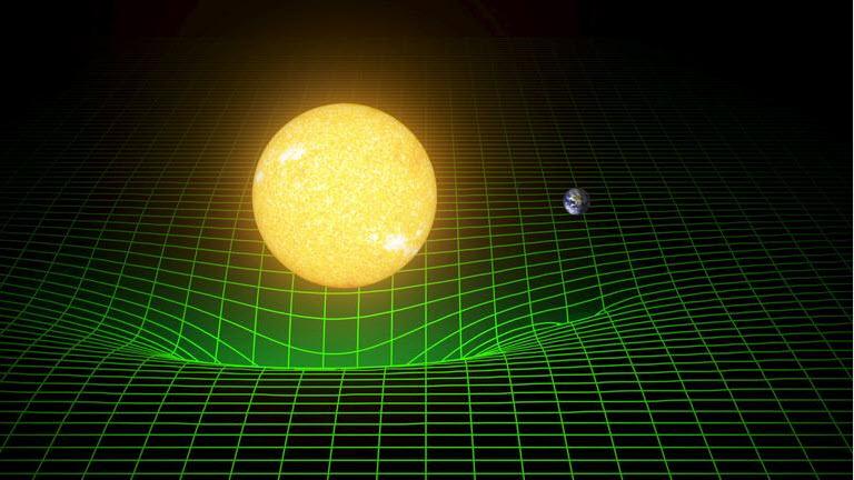 Gravitationswellen entstehen durch den Einfluss bewegter Massen auf die Raumzeit.