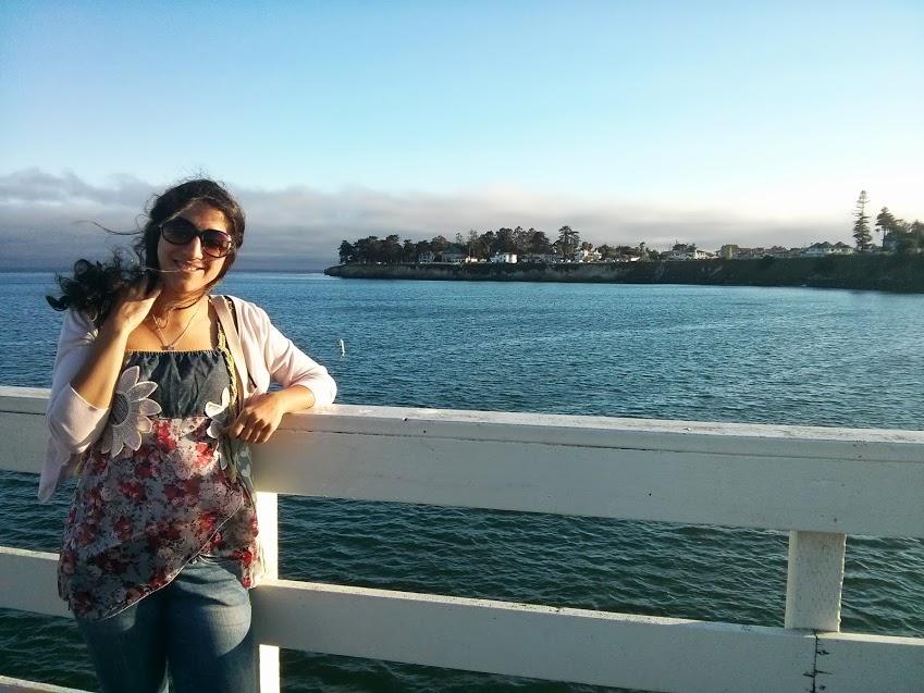 Unbeschwertere Zeiten - am Strand von Santa Cruz in Kalifornien
