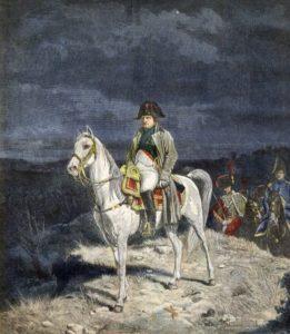 The Emperor Napoleon I of France on horseback 1814 - engraving after Meissonier. ©Bianchetti/Leemage [ Rechtehinweis: picture alliance/Leemage ]