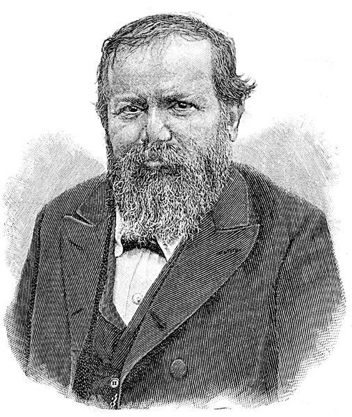 Das zeitgenössische Porträt zeigt den österreichischen Schachspieler Wilhelm Steinitz (1836-1900). Er war der erste allgemein anerkannte Schachweltmeister. [ Rechtehinweis: picture-alliance / dpa ]