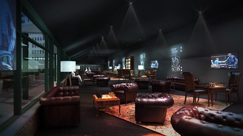 Schick: So soll die Lounge aussehen für die Zuschauer, wenn die beiden Champions antreten.