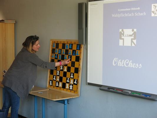 Schachunterricht am Hamburger Gymnasium Ohlstedt.