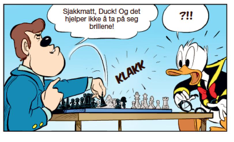 Da ist Donald Duck dann doch Matt gesetzt worden vom Weltmeister.