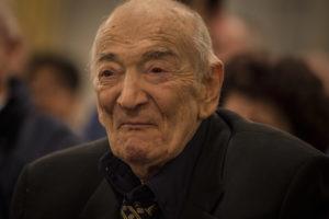 Viktor Kortschnoi im Februar in Zürich (Foto: David Llada)
